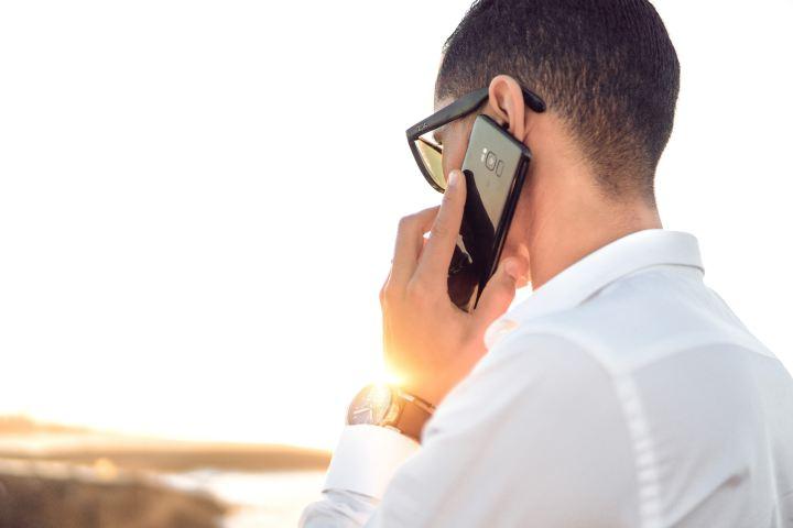 man on cellphone call